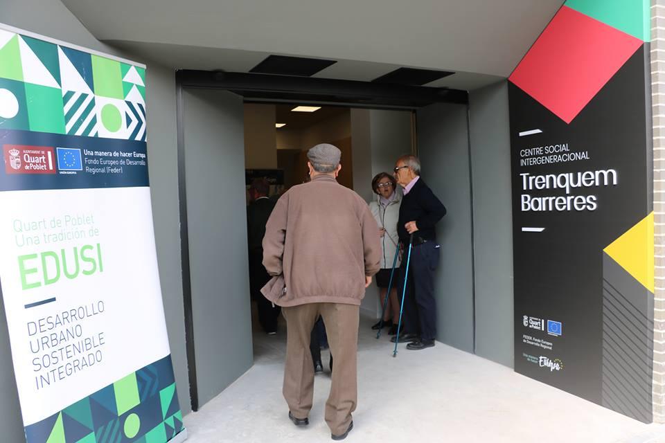 EL NUEVO CENTRO SOCIAL TRENQUEM BARRERES DE QUART DE POBLET ACOGE LAS PRIMERAS ACTIVIDADES INTERGENERACIONALES